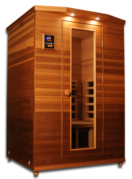 2 person sauna chromotherapy infrared far carbon ceramic. Black Bedroom Furniture Sets. Home Design Ideas