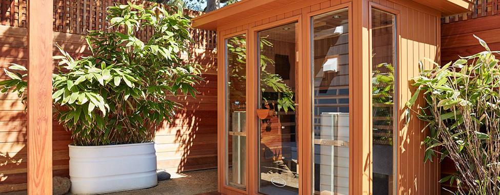 Clearlight-Infrared-Home-Sauna-in-Backyard