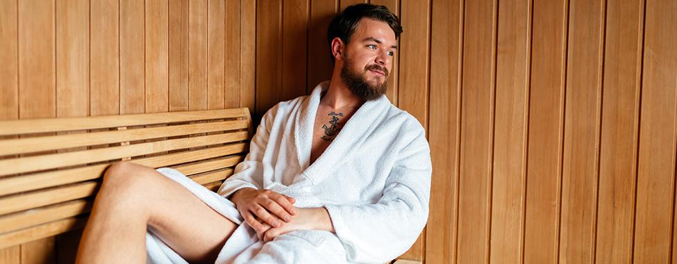Man-Using-a-Sauna-after-Workout