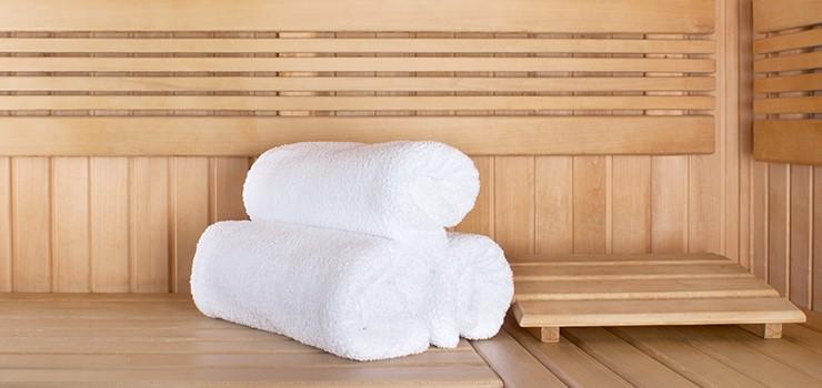 Towels-in-Infrared-Sauna