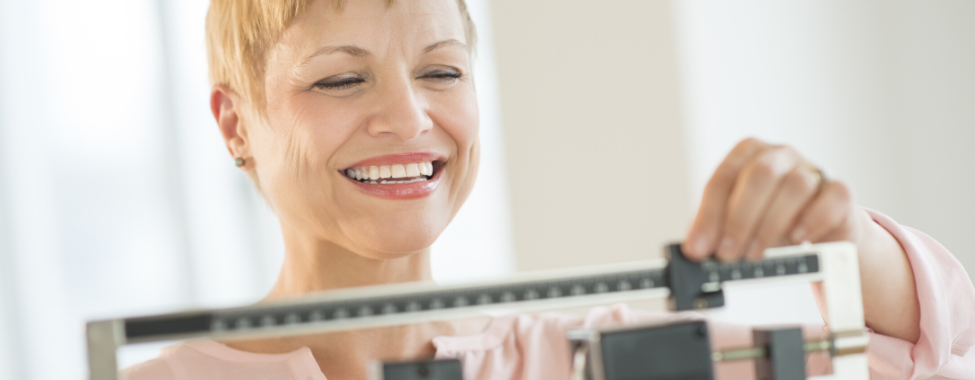 Woman-Checking-Healthy-Weight-During-Menopause