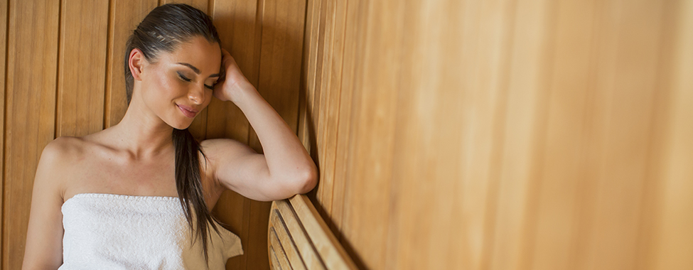 Woman-Practicing-Heat-Therapy-in-Infrared-Sauna
