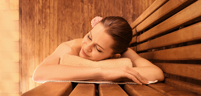 Woman-Relaxing-in-Infrared-Sauna