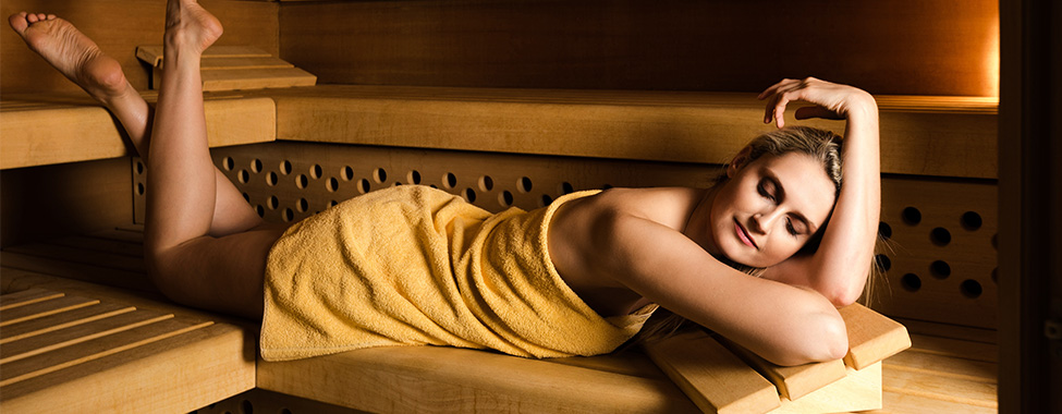 Woman-Using-Infrared-Sauna-for-Weight-Loss