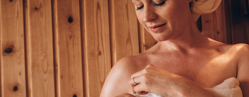 Woman-Using-Sauna-for-Natural-Menopause-Relief