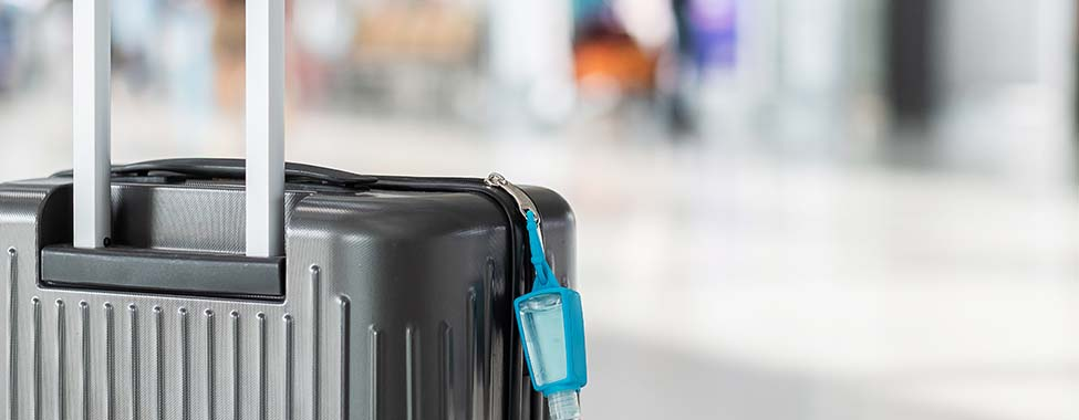 Suitcase with Hand Sanitizer for Healthy Trave